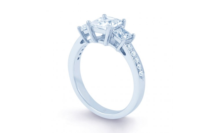 Lucia Princess Cut Diamond Engagement Ring in White Gold product image 2