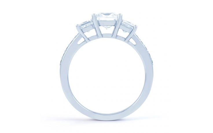 Lucia Princess Cut Diamond Engagement Ring in White Gold product image 3