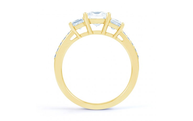 Lucia Princess Cut Diamond Engagement Ring in Yellow Gold product image 3