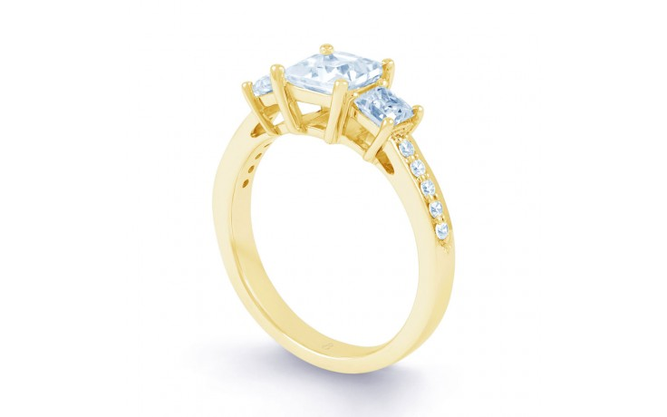 Lucia Princess Cut Diamond Engagement Ring in Yellow Gold product image 2