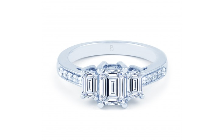 Lucia Emerald Cut Engagement Ring product image 1