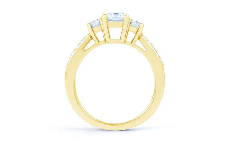 Lucia Emerald Cut Diamond Engagement Ring in Yellow Gold product image 3