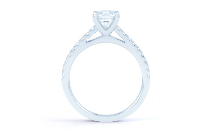 Alia Diamond Engagement Ring in White Gold product image 3