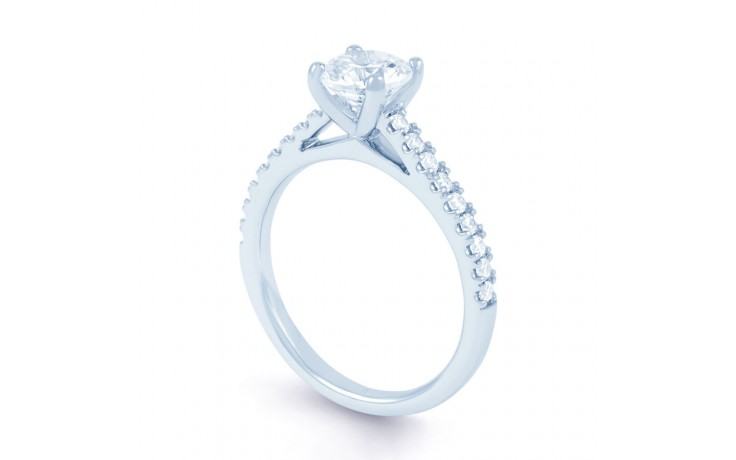 Alia Diamond Engagement Ring in White Gold product image 2