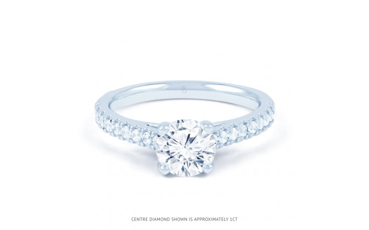 Alia Diamond Engagement Ring in White Gold product image 1