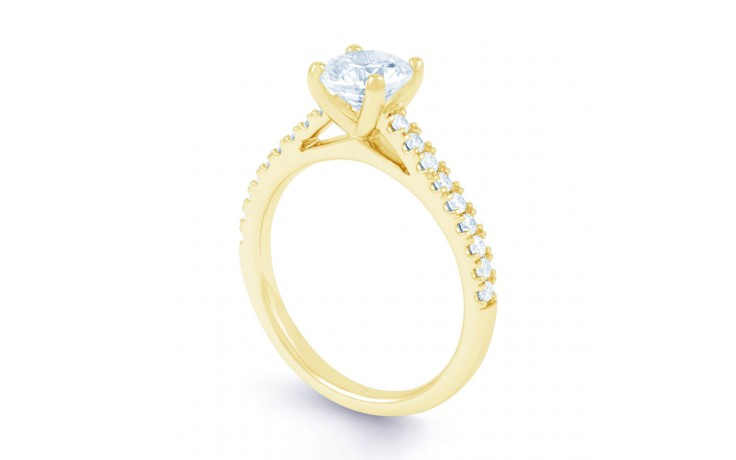 Alia Diamond Engagement Ring in Yellow Gold product image 2