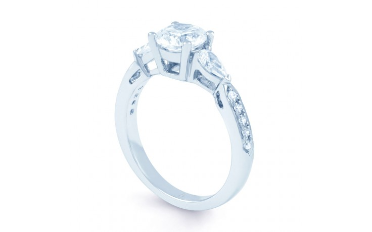 Lucia Pear Diamond Engagement Ring in White Gold product image 2