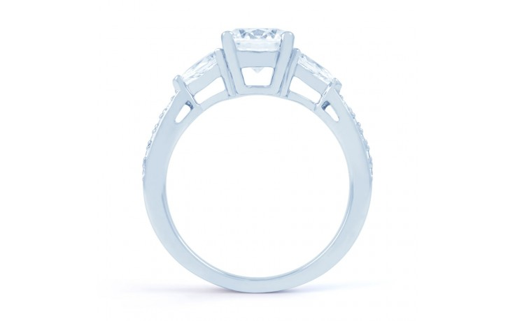 Lucia Pear Diamond Engagement Ring in White Gold product image 3