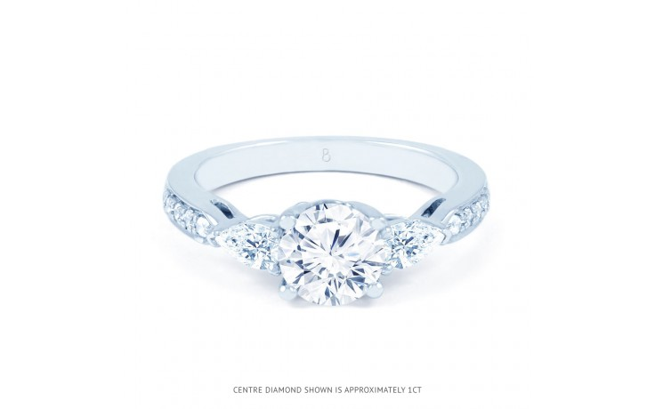 Lucia Pear Diamond Engagement Ring in White Gold product image 1
