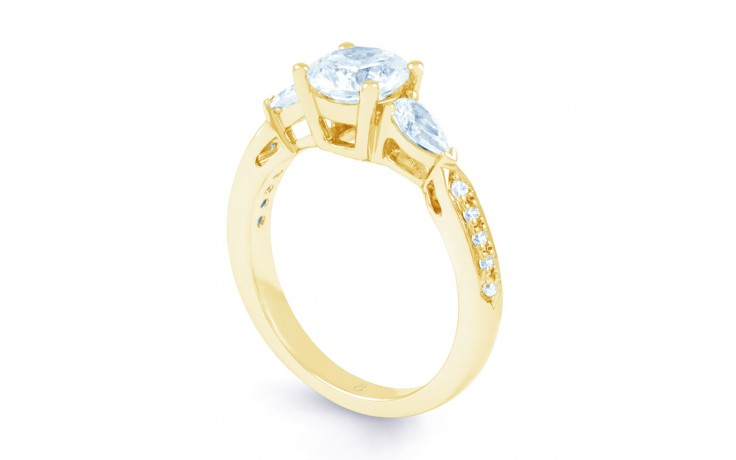 Lucia Pear Diamond Engagement Ring in Yellow Gold product image 2