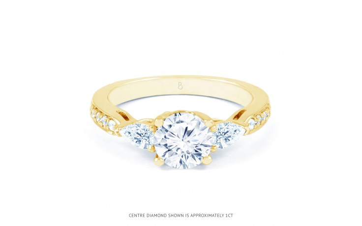 Lucia Pear Diamond Engagement Ring in Yellow Gold product image 1