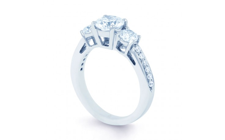 Lucia Diamond Engagement Ring in White Gold product image 2