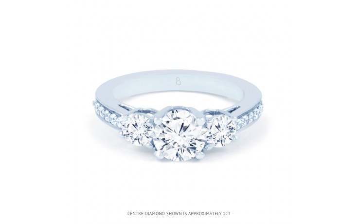 Lucia Diamond Engagement Ring in White Gold product image 1