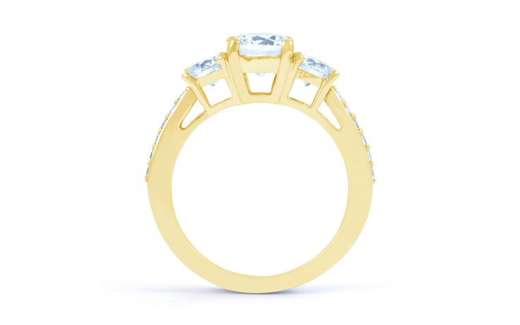 Lucia Diamond Engagement Ring in Yellow Gold product image 3