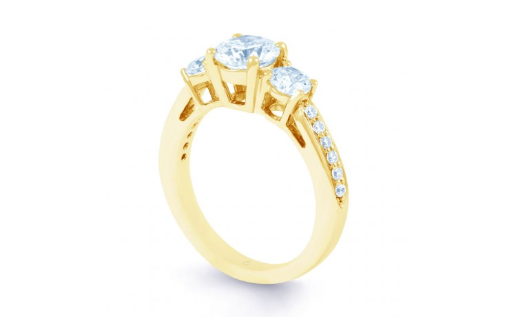 Lucia Diamond Engagement Ring in Yellow Gold product image 2