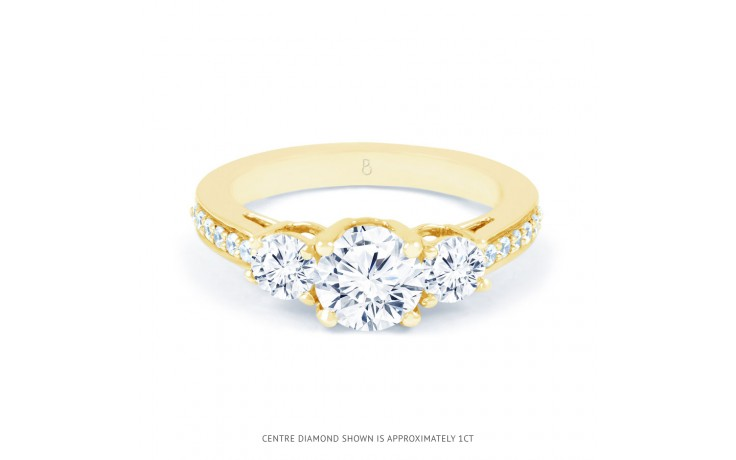 Lucia Diamond Engagement Ring in Yellow Gold product image 1