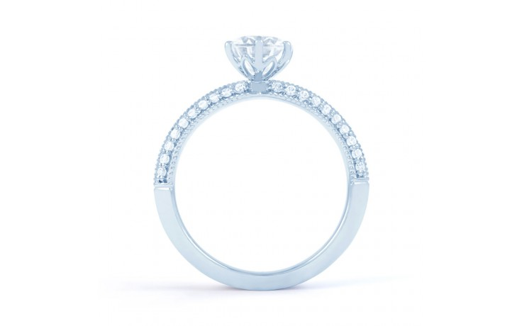 Alia Vintage Diamond Engagement Ring in White Gold product image 3