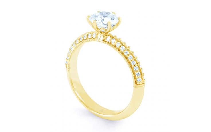 Alia Vintage Diamond Engagement Ring in Yellow Gold product image 2