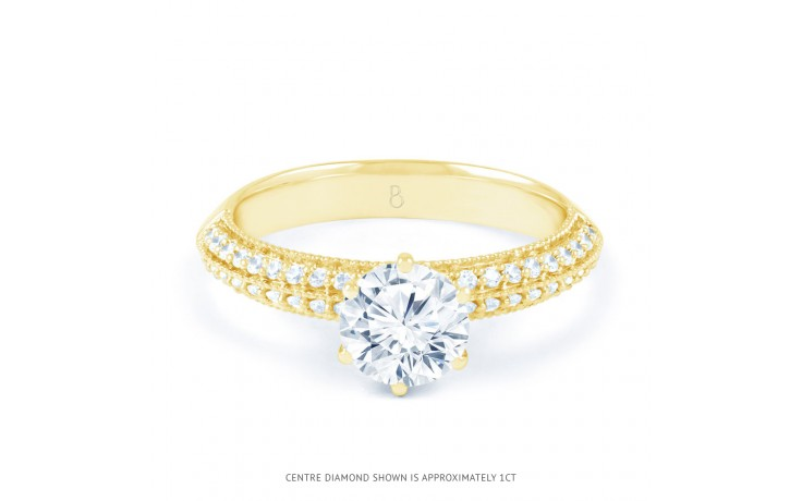 Alia Vintage Diamond Engagement Ring in Yellow Gold product image 1