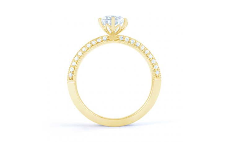 Alia Vintage Diamond Engagement Ring in Yellow Gold product image 3