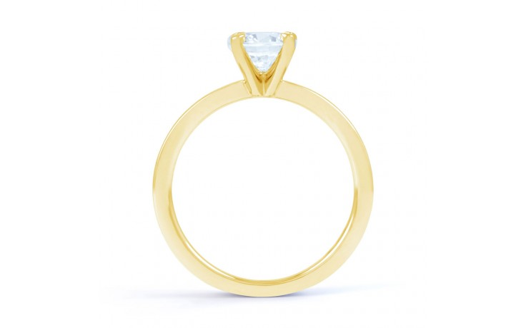 Esha Classic 4 Prong Diamond Engagement Ring in Yellow Gold  product image 3