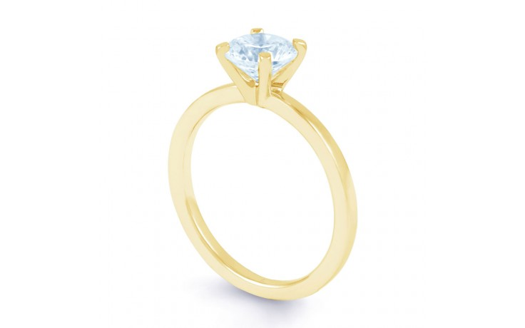Esha Classic 4 Prong Diamond Engagement Ring in Yellow Gold  product image 2