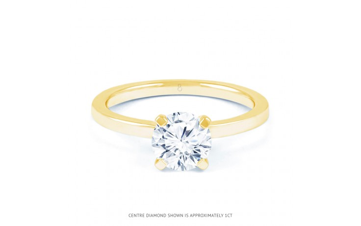 Esha Classic 4 Prong Diamond Engagement Ring in Yellow Gold  product image 1