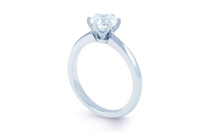 Esha Solitaire in White Gold  product image 2