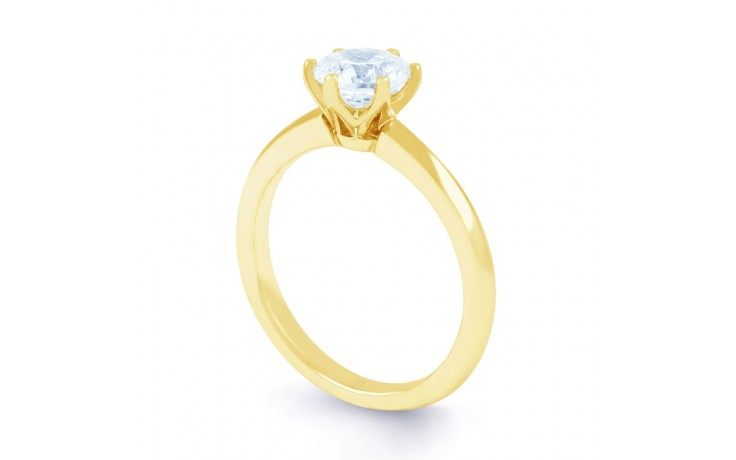 Esha Solitaire Diamond Engagement Ring in Yellow Gold  product image 2