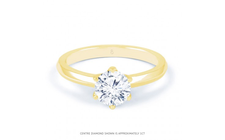 Esha Solitaire Diamond Engagement Ring in Yellow Gold  product image 1