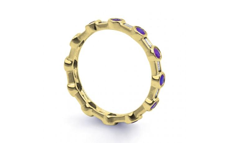 18ct Yellow Gold Tanzanite & Diamond Full Eternity Ring Band 0.42ct 3mm product image 2