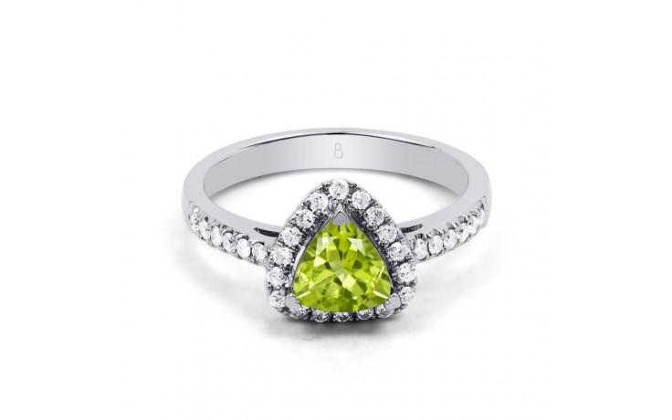 Peridot & Diamond Trillion Ring product image 1