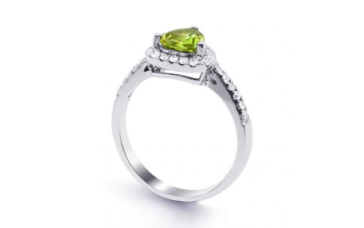 Peridot & Diamond Trillion Ring product image 2