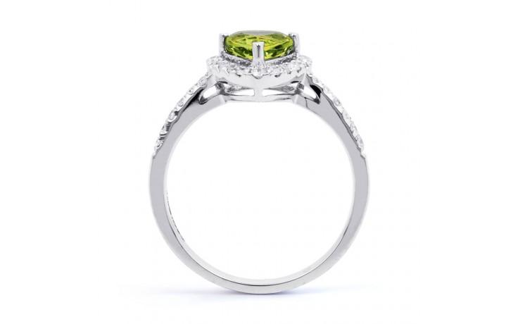 Peridot & Diamond Trillion Ring product image 3