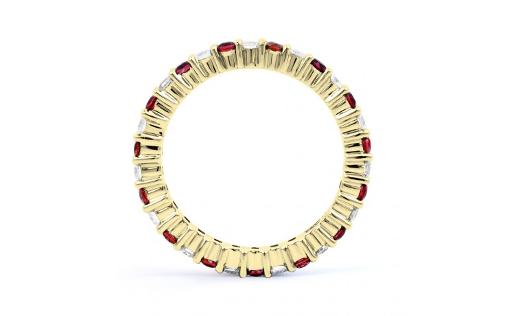 18ct Yellow Gold Ruby & Diamond Full Eternity Ring Band 0.45ct 2.3mm product image 3