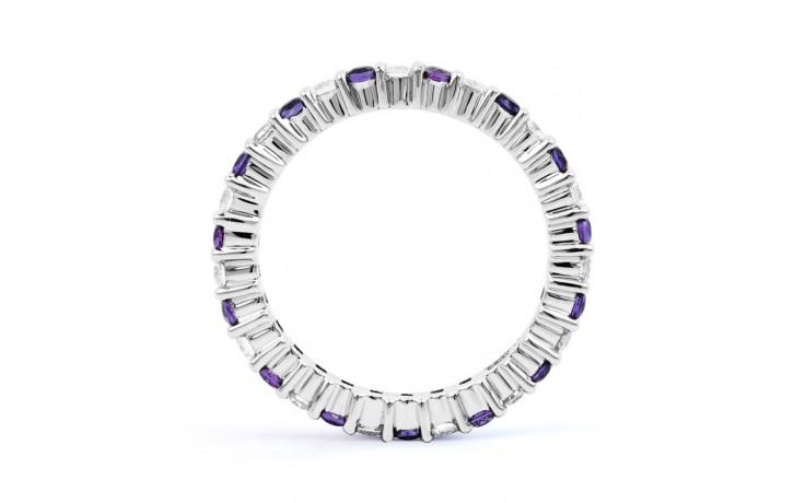 18ct White Gold Tanzanite & Diamond Full Eternity Ring Band 0.45ct 2.3mm product image 3
