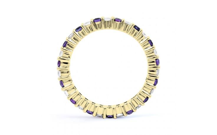 18ct Yellow Gold Tanzanite & Diamond Full Eternity Ring Band 0.45ct 2.3mm product image 3