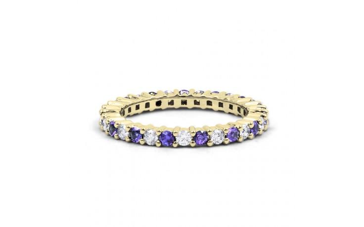 18ct Yellow Gold Tanzanite & Diamond Full Eternity Ring Band 0.45ct 2.3mm product image 1