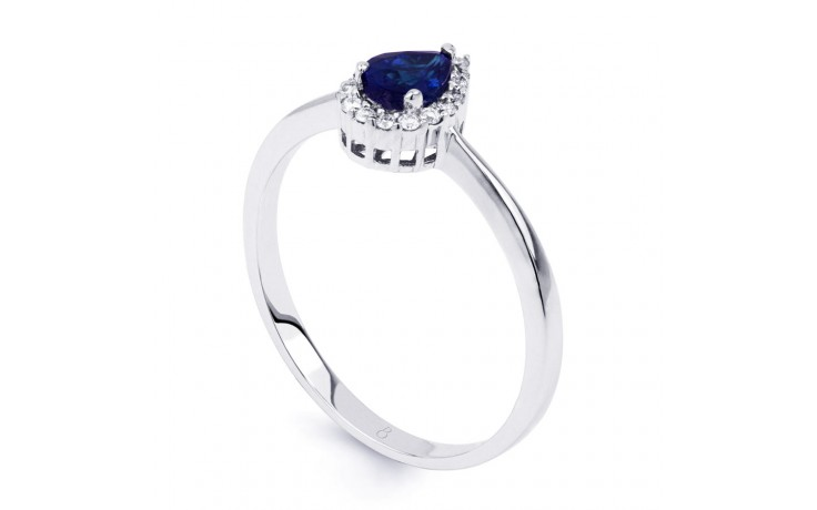 Aya Blue Sapphire Pear Ring product image 2