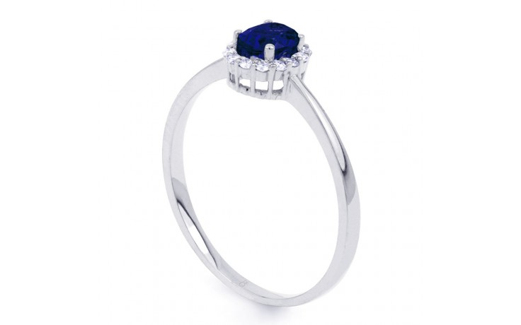 Aya Blue Sapphire and Diamond Ring product image 2