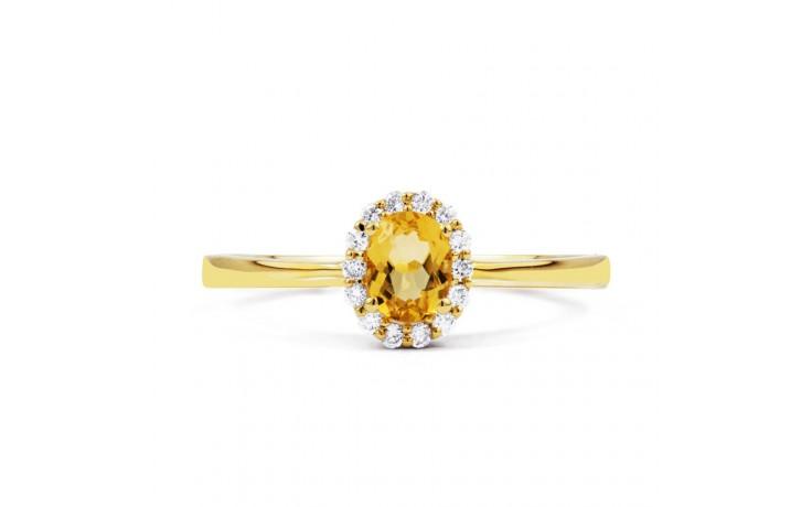 Aya Citrine & Diamond Gold Ring product image 1