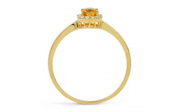 Aya Citrine & Diamond Gold Ring product image 3