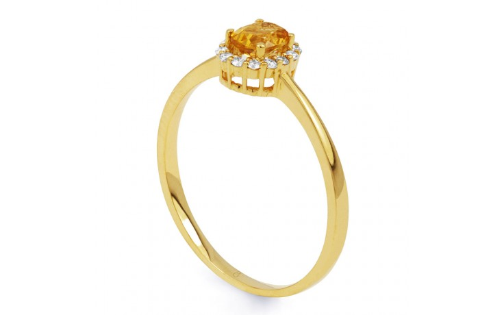 Aya Citrine & Diamond Gold Ring product image 2