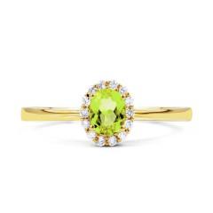 Aya Peridot and Diamond Gemstone Ring in 18ct Yellow Gold image 0