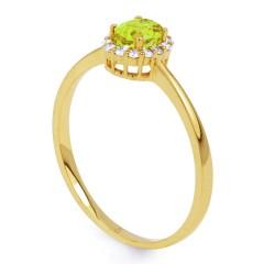 Aya Peridot and Diamond Gemstone Ring in 18ct Yellow Gold image 1