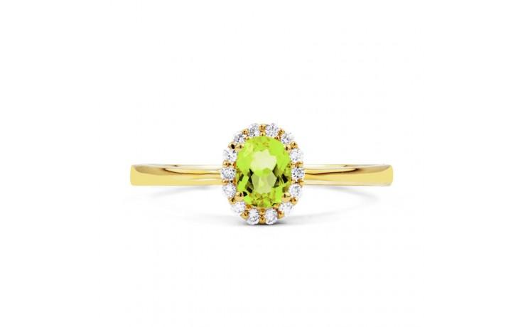 Aya Peridot & Diamond Gold Ring product image 1