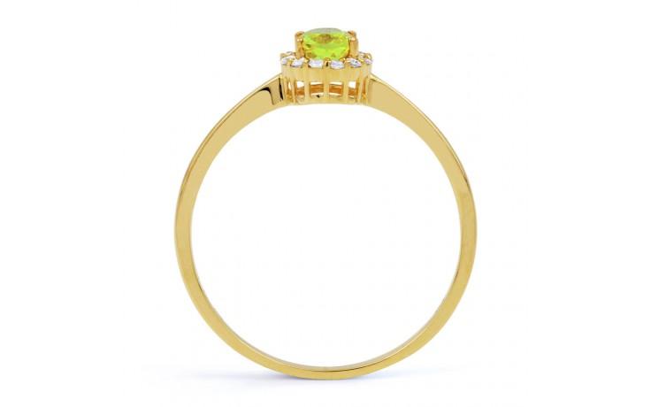 Aya Peridot & Diamond Gold Ring product image 3