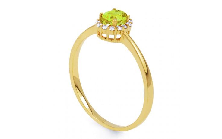 Aya Peridot & Diamond Gold Ring product image 2