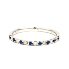 Larissa 18ct White Gold Blue Sapphire and Diamond Eternity Ring image 0
