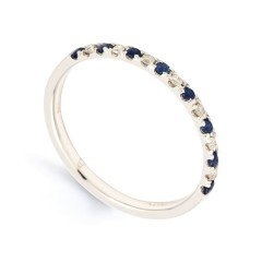 Larissa 18ct White Gold Blue Sapphire and Diamond Eternity Ring image 1